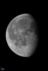Moon over Massachusetts 78.3% Waxing Gibbous 235,397 miles from the back yard... (J.Baker Photographies) Tags: moon massachusetts telescope space lunar luna craters night celestron