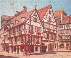 Jumbo 1531 France, Alsace, Colmar, 'rue des Marchandes' - jigsaw (dvdlcs) Tags: jigsaw jumbo ruedesmarchandes colmar alsace holidaypuzzle