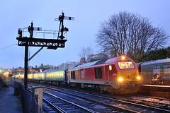 67-004-tnt-67-006-1Z68-Bridgnorth-16-11-2019 (D1021) Tags: skip class67 67004 67006 1z67 1z68 railtour ukrailtours thesevernvalleyautumnspecial ews dbs dbschenker bridgnorth shropshire svr severnvalleyrailway signals semaphore semaphores semaphoresignals semaphoresignal d700 nikond700