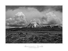 """Ngauruhoe"" (Dominic Scott Photography) Tags: dominicscott newzealand desertroad volcano mountngauruhoe mountdoom blackandwhite monotone clouds volcanic northisland sony ilce7rm3 gmaster sel2470gm leefilters manfrotto"