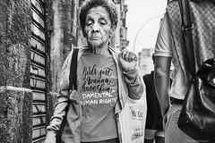 woman (rainerneumann831) Tags: bw blackandwhite street strase streetphotography candid strasenfotografie monochrome urban ©rainerneumann riodejaneiro frau portrait