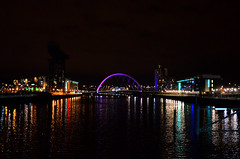 Clyde Arc (Valantis Antoniades) Tags: clyde arc river bridge modern architecture reflections glasgow night scotland