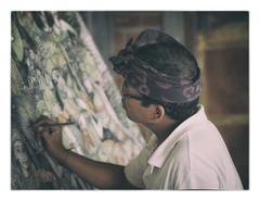 Balinese Painter (yoyomaoz) Tags: petermaynard lifeinshadows bali atelier artist workshop studio painter olympusem5 olympus75mmf18 batuan village
