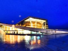 Rainy reflections. Oslo Opera House. November. (trine.syvertsen) Tags: building architecture cityscape blues bluehour reflection rain norway oslo operahouse
