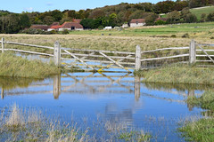 Waders recommended! Explore 18/11/19 (MJ Harbey) Tags: gate water reflections grass people buildings cuckmerehaven eastsussex sussex nikon d3300 nikond3300