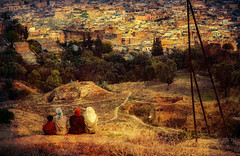 Painting and photography testing (3) (JLM62380) Tags: sunset fes fez town ville morocco maroc africa afrique women