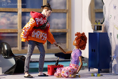 may I have this dance ? (photos4dreams) Tags: barbie mattel doll toy photos4dreams p4d photos4dreamz barbies girl play fashion fashionistas outfit kleider mode puppenstube tabletopphotography diorama scenes 16 canoneos5dmark3 ken bmr1959 madetomove male man mann deboxed kay