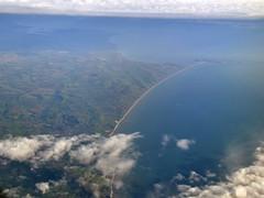 Aerial Chesil Beach (stevekeiretsu) Tags: uk england aerial dorset coast