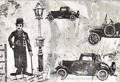 IMG_20191117_0001 (stamping_rika) Tags: charliechaplin stamping 4x6 postcard postkarte stempelen movy star oldcars darkroomdoor