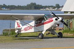 N83349 - 1976 build Piper PA-18-150 Super Cub, parked at Lake Hood (egcc) Tags: 187609089 alaska anchorage betz lhd lakehood lakehoodseaplanebase lakespenard lightroom n83349 pa18 pa18150 palh piper supercub