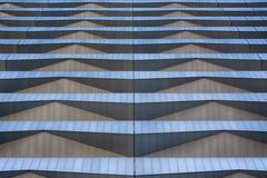 Rhythm of balconies (Jan van der Wolf) Tags: map194771v symmetry symmetric symmetrie facade gevel rhythm visualrhythm balconies architecture architectuur repetition herhaling abstract denhaag