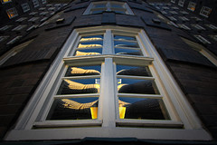 Sprinkenhof Reflections (HWHawerkamp) Tags: architecture building exterior facade famous place no people travel outdoors day pov abstract reflections graphics hamburg germany sprinkenhof blue sky
