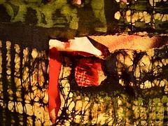 abstract colours (delnaet) Tags: art kunst batik painting schilderkunst zijde katoen silk soie cotton abstrakt abstract rotrossorougerood textuur texture