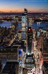 West Side Sunset (20191116-DSC09578-Edit) (Michael.Lee.Pics.NYC) Tags: newyork esb empirestatebuilding night sunset twilight bluehour pennstation pennplaza msg madisonsquaregarden manhattanwest hudsonyards hudsonriver newjersey javitsconventioncenter architecture cityscape skyscraper skyline sony a7rm4 fe24105mmf4g