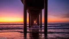 Sunset at Scripps Pier (patuffel) Tags: la pier shores jolla scripps sunset beach san diego california us sun wood usa sea leica m10 28mm summicron