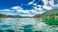 Lago d'Iseo 2019 (karlheinz klingbeil) Tags: d850 nikon see wasser italy italia lake lagoiseo clouds 2470 tamron2470 sky italien himmel lago wolken water panorama