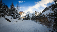 Heading to Oeschinensee, Switzerland (throzen) Tags: switzerland swiss alps alpine trees mountain mountains hill hills rocky rockies europe landscape nature outside outdoors peaks view views cloud hiking winter scenic scenery photography dslr canon eos 70d snow snowy beauty beautiful