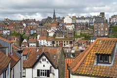 Whitby rooftops (Keartona) Tags: whitby northyorkshire coast history town roofs roof houses buildings crowded shapes landscape travel beautiful place england english tourism day view windows