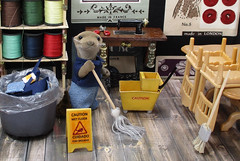 custodian janitor (sophie.lafontaine) Tags: sylvanianfamilies calicocritters otter janitor custodian