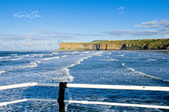 SJ2_1250 - From Saltburn pier (SWJuk) Tags: swjuk uk unitedkingdom gb britain england yorkshire northyorkshire yorkshirecoast coast coastal seaside sea seascape ocean northsea waves surf huntcliff cliffs bluesky clouds 2019 sep2019 autumn holidays nikon d7200 nikond7200 nikkor1755mmf28 rawnef on12020