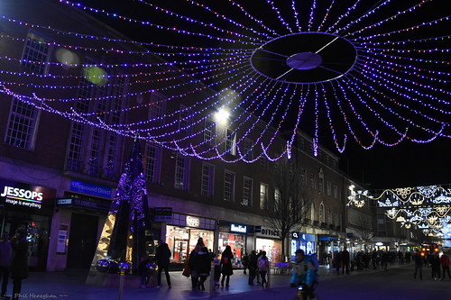 Exeter High Street Christmas lights 2019