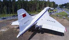 DJI_0206 (stashkevichv) Tags: airplane aviation airport airliners avia air airline apron aeroflot airways fly plane pilot tupolev tu tu144 russia russian ussr jetplane jet drone dji