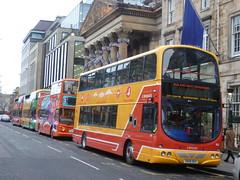 George Street line up, Edinburgh. (calderwoodroy) Tags: bus scotland edinburgh georgestreet doubledecker bustour sightseeingtour lothianbuses edinburghbustours 3bridgestour lothian lothian100 lothianbusescentenary
