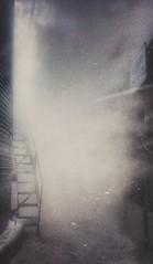 heat...(HSS) (BillsExplorations) Tags: sliderssunday hss fog steam heat farm ladder graindryer agriculture cold spooky