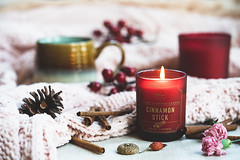 Time to relax (Chapter2 Studio) Tags: stilllife sonya7ii soft chapter2studio calm classic coffee cup candle cinnamon flower floral red berries cozy acorns pinecone