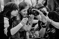 Photographer's (bainebiker) Tags: amsterdamtattooconvention photographers cameras monochrome concentration ultrafastlens canonef50mmf10lusm amsterdam netherlands northholland buitenveldert people