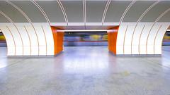 Urban Emptiness (CoolMcFlash) Tags: subway station empty vienna westbahnhof train fujifilm xt2 motion blur drive nobody ubahn leer wien zug bewegung fahren niemand fotografie photography xf1024mmf4 r ois city urban stadt architecture architektur symmetry symmetrie