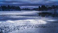 morning has broken (Diana Klawitter) Tags: schweden fjällvattnet västavattnan winter autumn sunrise