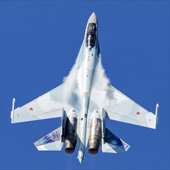 Sukhoi Su-35S - 10 (NickJ 1972) Tags: maks zhukovsky airshow 2019 aviation sukhoi su35 su27 flanker rf81719 52 red