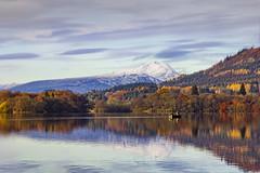 Autumn Colours Lake Of Menteith (Giovanni Giannandrea) Tags: autumn lakeofmentieth scotland scottish landscape portofmentieth benlomond luminar colours goldenbrown snowcap