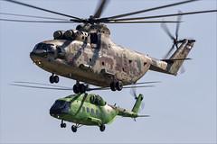 Mil Mi-26T2V and Mi-38T - 03 (NickJ 1972) Tags: maks zhukovsky airshow 2019 aviation mil mi26 halo mi38 157 3112 yellow rf04529 72 red