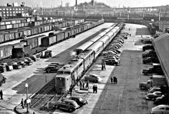 dedication of 'Apparatus Train' in the Eckington Street Yards in Washington D.C Dec. 4, 1950 (over 19 MILLION views Thanks) Tags: generalelectric alco morepowerforamerica demonstrationtrain eckingtonyards 1950 washingtondc train pa1 diesellocomotives