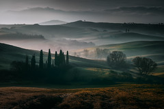 Countryside in the morning (Fabrizio Massetti) Tags: landscape landscapes light phaseone cambo rodenstock tuscany toscana tree sunrise sun countryside colored fabriziomassetti famasse fog hills