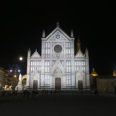 Florence, Italy (nature chief) Tags: florence firenze フィレンツェ イタリア church basilica santa croce night