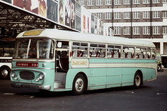East Kent Road Car Co . 523FN . Victoria Coach Station , London .  August-1969 . (AndrewHA's) Tags: victoriacoachstation london bus coach eastkent road car 523fn aec reliance parkroyal skyways coachair service