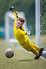 Diving for a save (BP Chua) Tags: singacup football soccer sport action goalkeeper ball canon 1dx