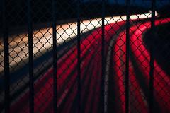 Lifelines. (Korbinian Eckert) Tags: lights light nikkor nikon d700 outdoor autobahn highway night darkness fence photography fotografie long exposure langzeitbelichtung