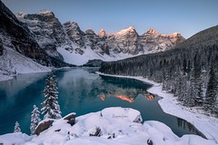 Moraine Lake (Margarita Genkova) Tags: morainelake landscape nature snow frozen rockymountains banffnationalpark reflection