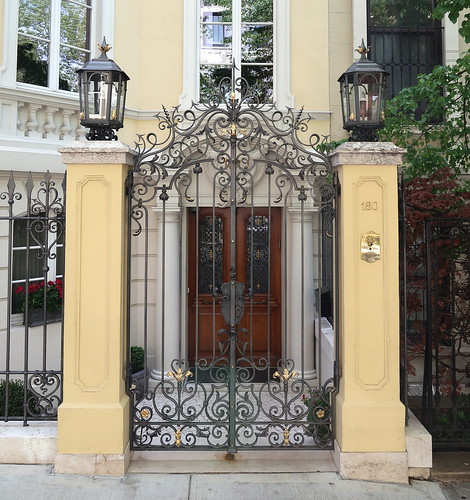 The palatial gates of the Emanuel Libman House, 180 East 64th Street, Manhattan