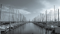 Marina di Ravenna (Lorenzog.) Tags: marinadiravenna ravenna emiliaromagna italy marina adriaticsea monochrome myplaces