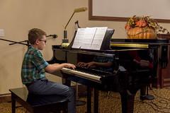 Joshua at Piano Recital (aaronrhawkins) Tags: joshua piano recital jamestown retirement song play practice child boy keyboard music perform performance aaronhawkins