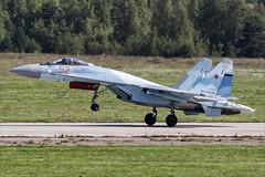 Sukhoi Su-35S - 14 (NickJ 1972) Tags: maks zhukovsky airshow 2019 aviation sukhoi su35 su27 flanker rf81719 52 red