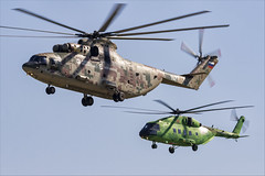 Mil Mi-26T2V and Mi-38T - 05 (NickJ 1972) Tags: maks zhukovsky airshow 2019 aviation mil mi26 halo mi38 157 3112 yellow rf04529 72 red