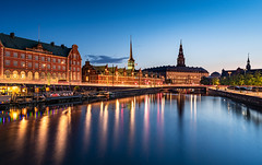 _DSC1728 - Copenhagen Slotsholmen blue hour (AlexDROP) Tags: 2019 denmark copenhagen europe travel color cityscape city bluehour water nikond750 tamronaf1735mmf284diosda037 best iconic famous mustsee picturesque postcard wideangle hdr
