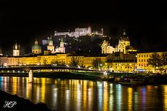 Salzburg (hans pirkie) Tags: salzburg wasser gebäude austria outdoor österreich sony ausflug architektur a6000 abend dämmerung fluss himmel kirche lichter light skyline city brücke natur night nacht