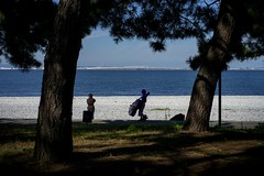 Musician by the sea (khoo Hui) Tags: beach kansai japan silhoutte seaside people musicians